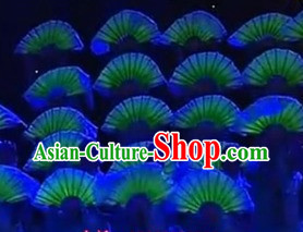 Professional Stage Performance Florescent Silk Dance Fan