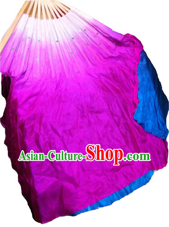 Glow in Dark Luminous Silk Dance Fan