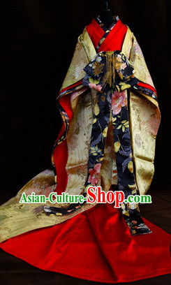 Traditional Japanese Princess Kimono Clothes for Ladies