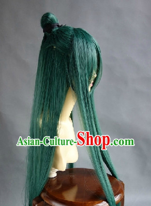 Chinese Classical Swordsman Cosplay Long Wig