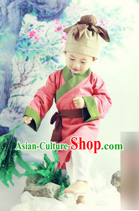 Ancient Chinese Students Costumes Complete Set for Kids