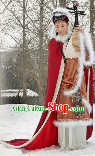 Ancient Chinese Wang Zhaojun Costumes Complete Set