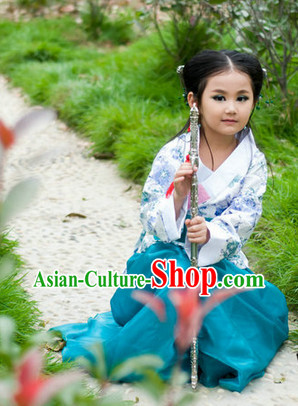 Ancient Chinese Hanfu Clothes for Kids