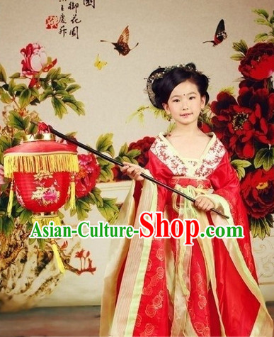 Ancient Chinese Tang Imperial Princess Costumes for Children