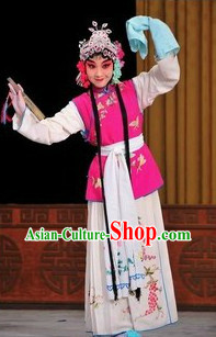 Hua Dan Stage Opera Costumes Complete Set for Kids