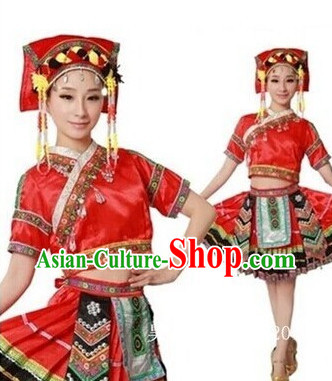 Miao Ethnic Dance Recital and Competition Costumes