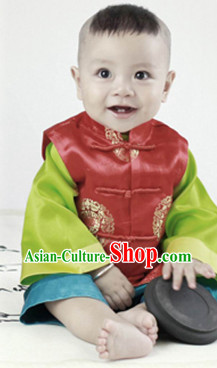 Ancient Chinese Birthday Ceremony Dresses for Kids