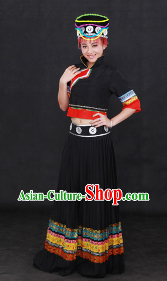 China Yunnan Nu Nationality Festival Clothing