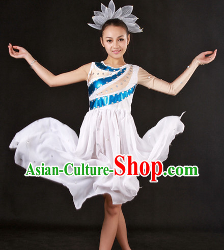 Lovely White Modern Dance Costumes