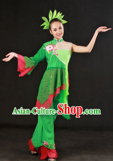 Han Ethnic Dance Suit and Headwear