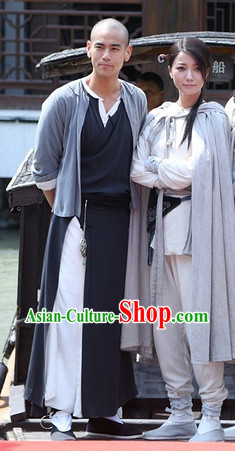 Ancient Swordsman and Swordswoman Traditional Costumes 2 Complete Sets