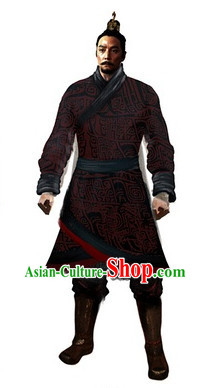 Chinese Han Traditional Outfit Complete Set for Men