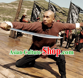 Ancient Chinese Bladesman Costumes Long Robe
