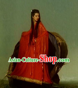 Red Chinese Traditional Wedding Dresses Complete Set for Women