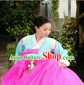 Korean Traditional Female Hanbok Clothes