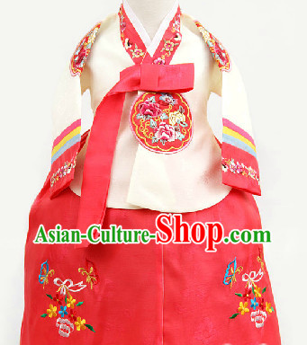 Korean Traditional Hanbok for Sisters from 1 Year Old to 15 Years Old