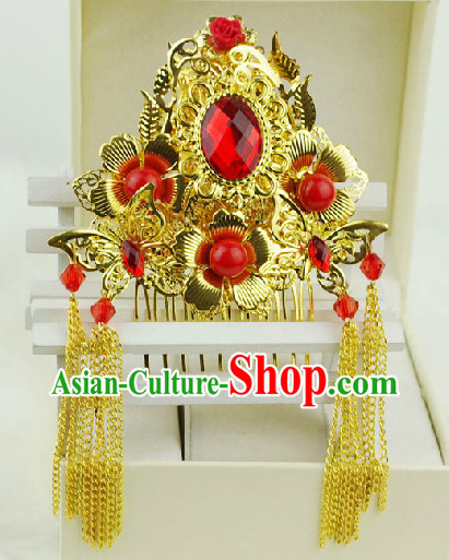 Romantic Chinese Traditional Golden Hair Decorations