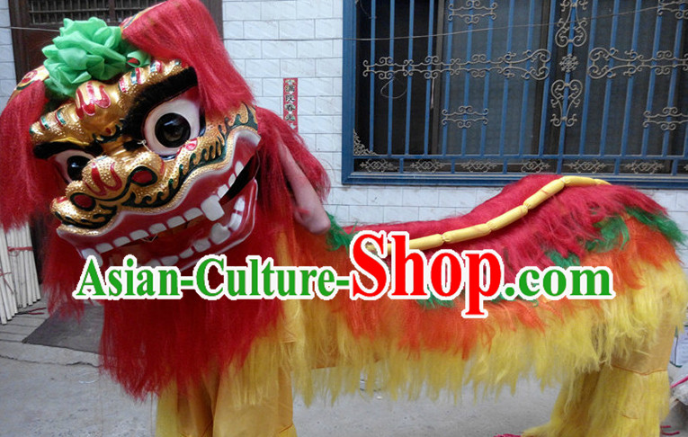 Traditional Asian Northern Lion Dancing Costumes Complete Set