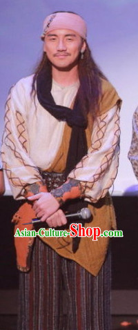 Qing Dynasty Mongolian Knight Costumes Complete Set