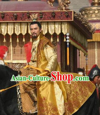 Tang Ming Huang Tang Emperor Costumes and Crown Complete Set
