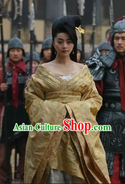 Yang Guifei Tang Empress Costumes and Wig Complete Set
