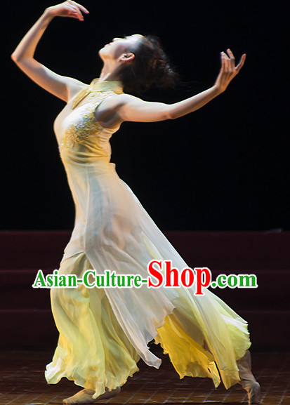 Chinese Classical Solo Dance Costumes Cheongsam for Women