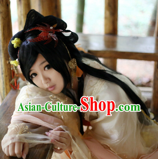 Ancient Chinese Imperial Palace Long Wig