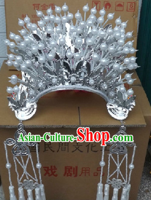 Traditional Chinese White Phoenix Crown