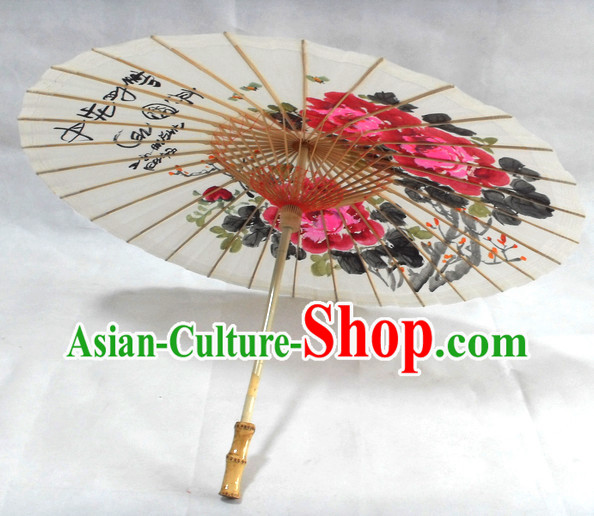 Traditional Chinese Hands Painted Umbrella