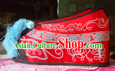 High Heels Traditional Beijing Opera Hua Dan Embroidery Shoes