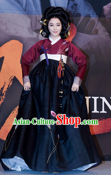Ancient Korean Palace Imperial Lady Costumes Complete Set