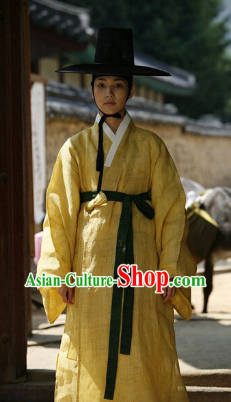 Traditional Korean Clothing and Black Complete Set for Men