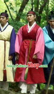 Ancient Korean Playboy Costumes and Headwear Complete Set