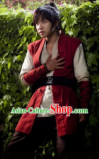 Traditional Korean Swordman Costumes Complete Set