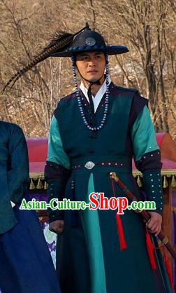 Korean Traditional Young Official Clothes and Hat