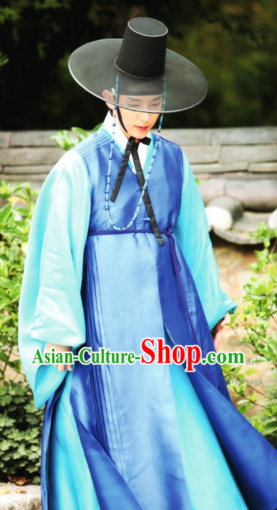 Korean Traditional Clothes and Hat for Men