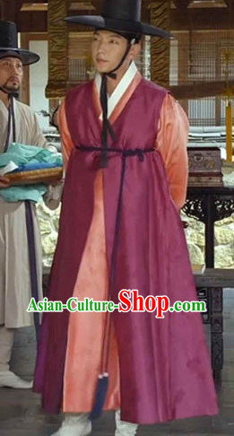 Korean Traditional Rich Man Clothes and Hat