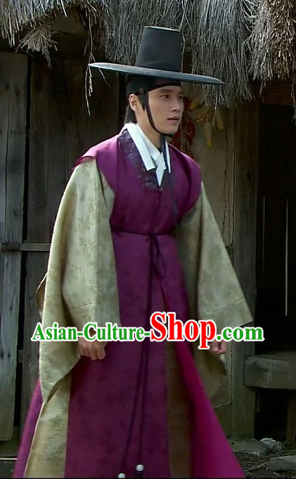 Traditional Korean Dopo Seonbi  Confucian Scholars National Costumes