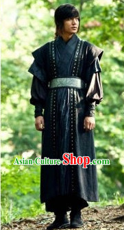 Traditional Korean Black Robe for Men