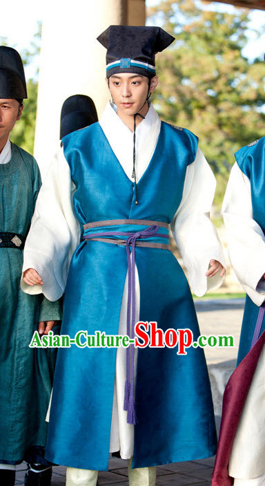 Traditional South Korean Historical Hanbok Costumes and Hat