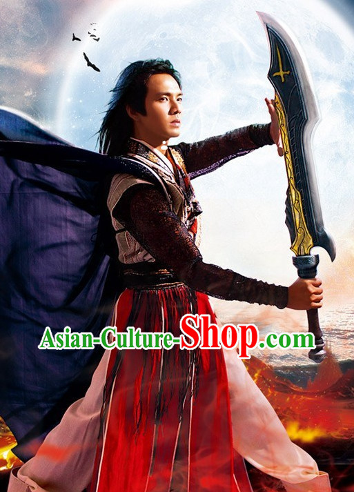 Chinese Traditional Handsome Cool Boy Costumes