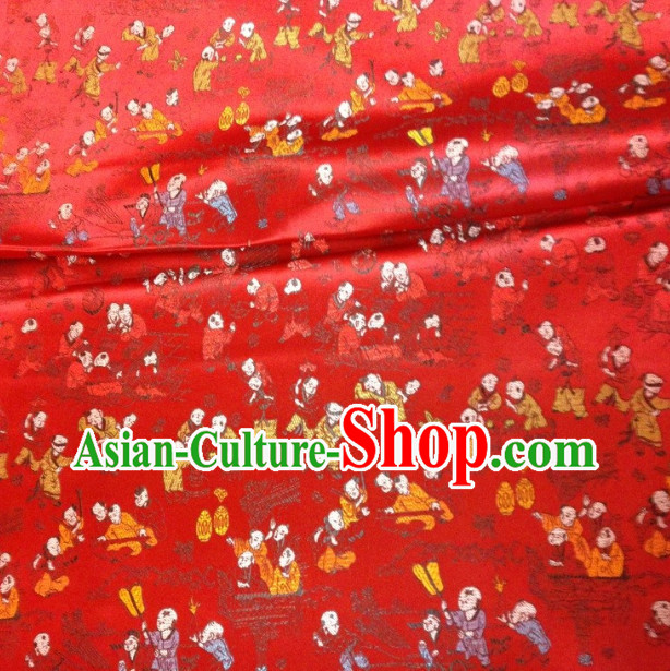 Ancient Chinese People Traditional Brocade
