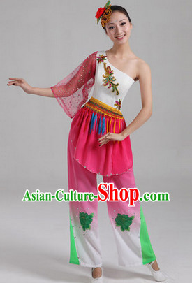 Enchanting Effect Traditional Folk Dancing Costumes and Headwear Complete Set for Girls