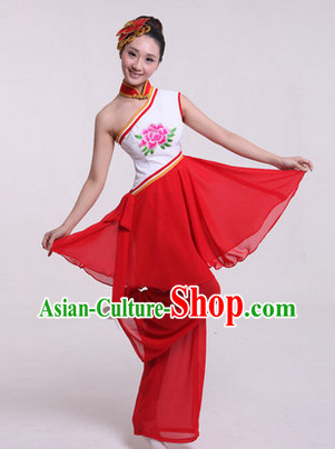 Enchanting Effect Traditional Folk Dancing Costume and Headwear Complete Set for Women