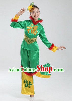 Traditional Asian Dance Costume Complete Set for Women 1