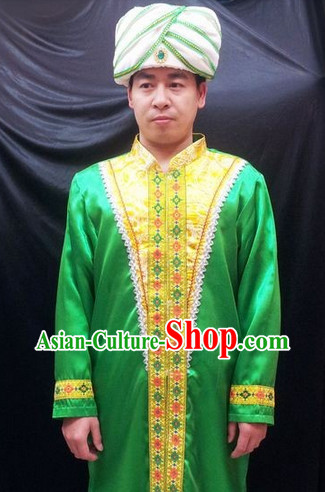 Traditional Indian Robe and Hat for Men