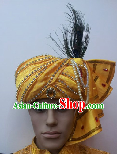 Southeast Asia Traditional Peacock Hat for Men