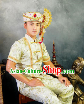 Southeast Asia Traditional Thailand Garment for Men