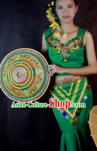 Southeast Asia Traditional Thailand Dance Costumes for Women