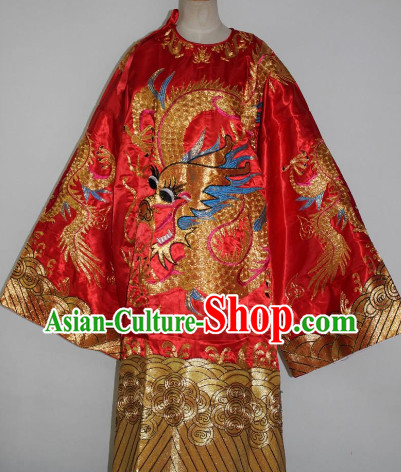 Ancient Dragon Embroidery Robe for Men